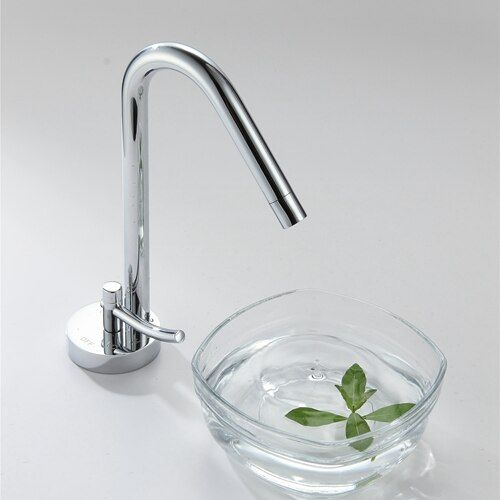 Bathroom Sink Faucet Hot And Cold Water Mixer Tap Chrome Contemporary Design Solid Brass All Polished Sink Faucets EL11