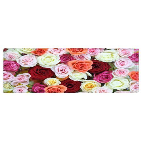 Decorative Rose Flower Pattern Carpet Floor Non Slip Mat For Home Living Room Bedroom