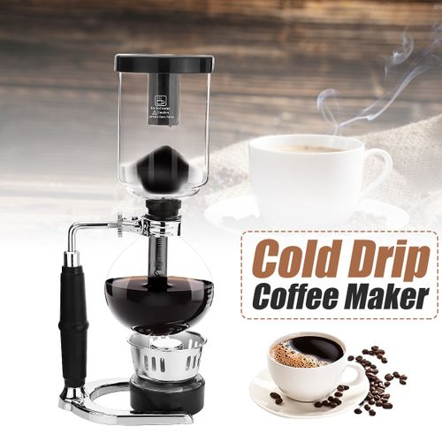 Cold Drip Ice Coffee Maker Filter Dutch Syphon Brew Water Portable Glass Machine