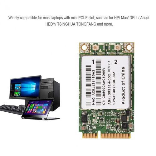 Professional 2.4G + 5G Dual-Band Mini PCI-E WIFI Wireless Card For HP/ MAC/ DELL/ Acer Network Cards( )