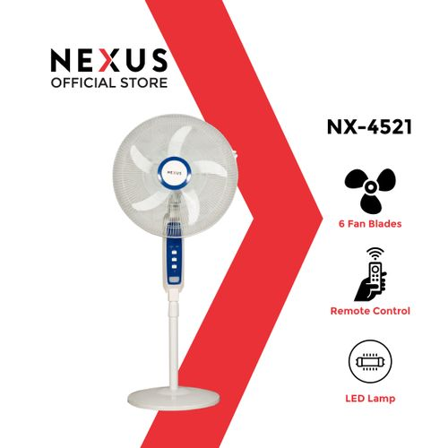 16-Inch Rechargeable Fan With Remote & USB- S-4521 R