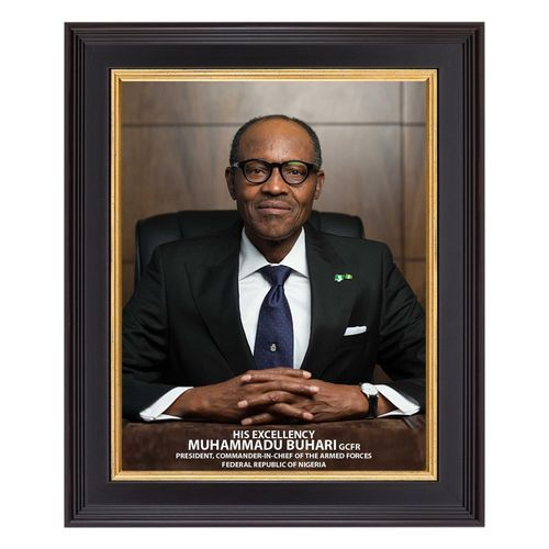 8 X 12 Inches Picture Frame - Of Nigeria President