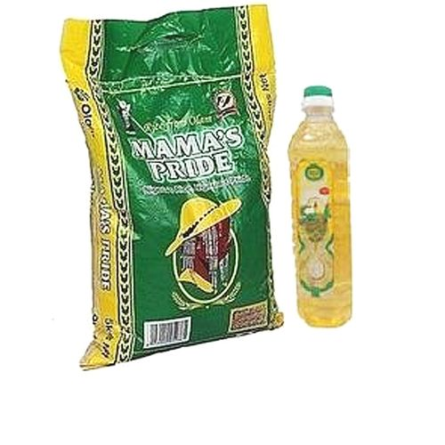 Mama'S Pride Parboiled Rice 5kg + Sunola Oil 1 Litre