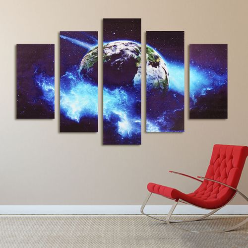 Modern Canvas Painting Earth Universe Picture Wall Hanging Home Unframed Decor