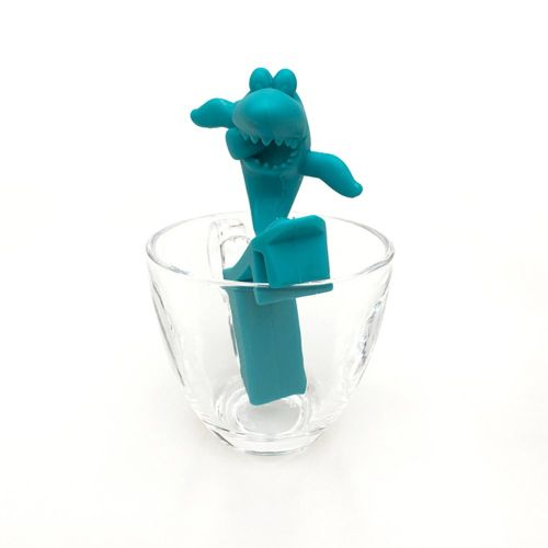 Tea Leaf Strainer Filter Reusable Silicone Filterblue Blue