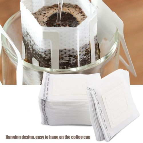 50pcs/Set Drip Bags Hanging Cup Disposable Filter Non-woven Coffee Tea Making Tool