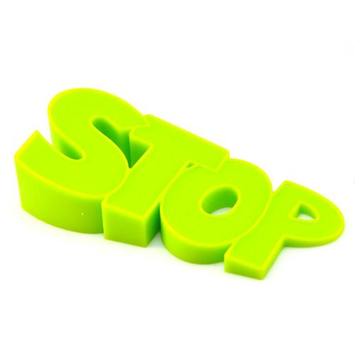 Cute Door Stopper Silicone Home Decorative Creative Wedge Doorstopper For Home, SCHOOL, OFFICE Non-Slipper (Green)