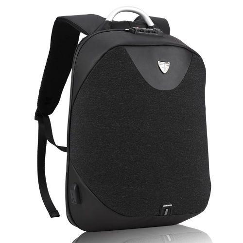 ARCTIC HUNTER Laptop Backpack,Anti Theft Bag With Anti-theft Lock & USB Charging Port ,Smart Bag, Water Resistant Backpack School Bag & Business Backpack B208- Black