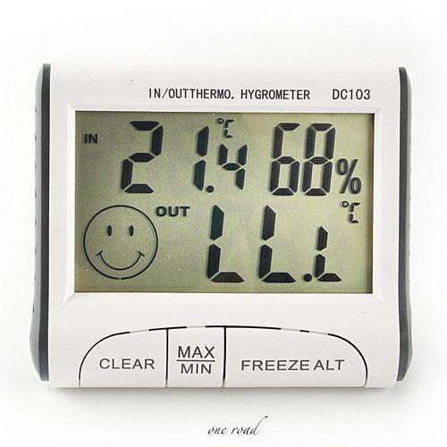 Weather C/F Sensor Digital Gauge Probe Outdoor Indoor Thermometer Hygrometer Humidity Meter Temperature