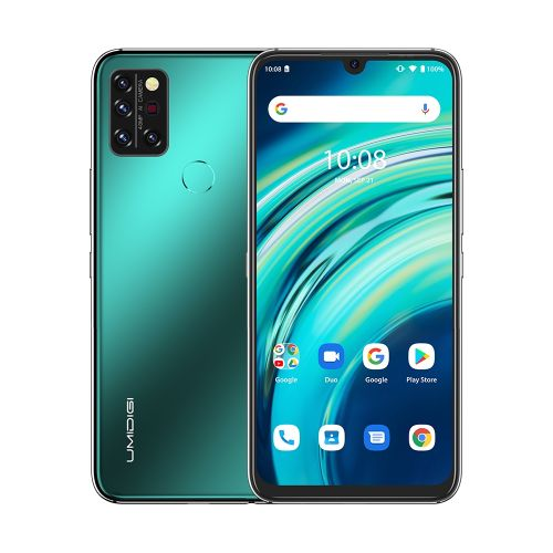 A9 Pro Non-contact 6GB+128GB 4150mAh Battery 6.3 Inch Android 10 4G OTG Smartphone - Green
