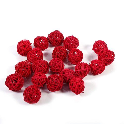 5 Colors 20Pcs Decorative Rattan Balls Ornaments Wedding Christmas Birthday Party Decorations Design