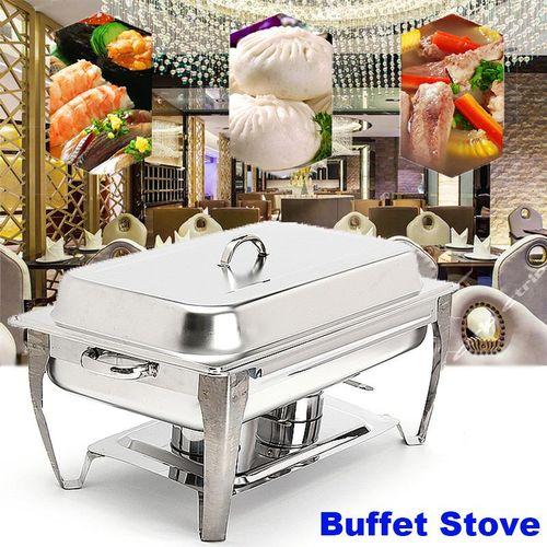 Three 2-1/2 Quart Stainless Steel Rectangular Chafing Dish Full Buffet Catering