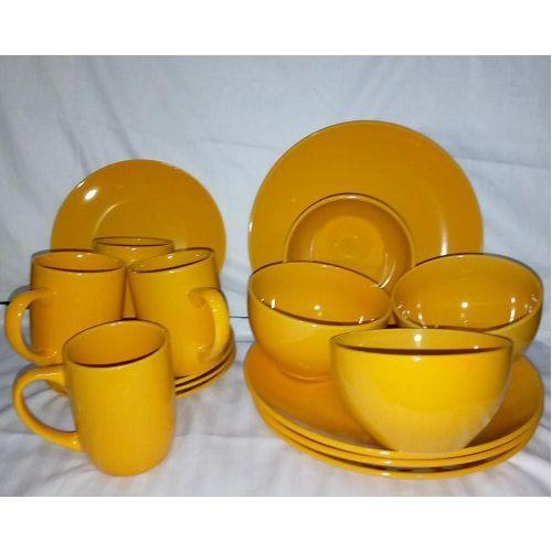 16 Pcs Ceramics Dinner Set - Yellow
