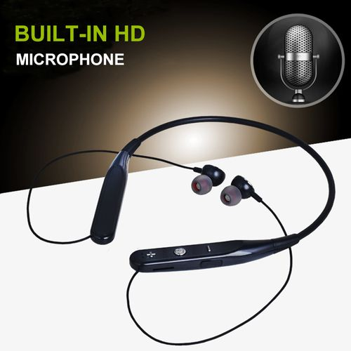 733 Wireless Bluetooth Sport Headphones With Mic Bluetooth Neck-hanging Volume Control Headset Magnet Earphone