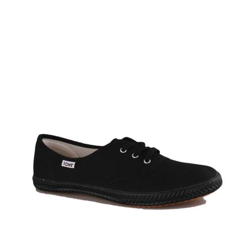 Women's Basic Lace-up Sneakers - Black