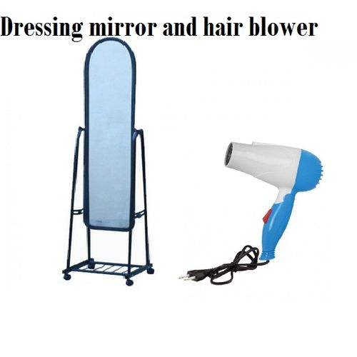 Movable Dressing Mirror + Hair Blower