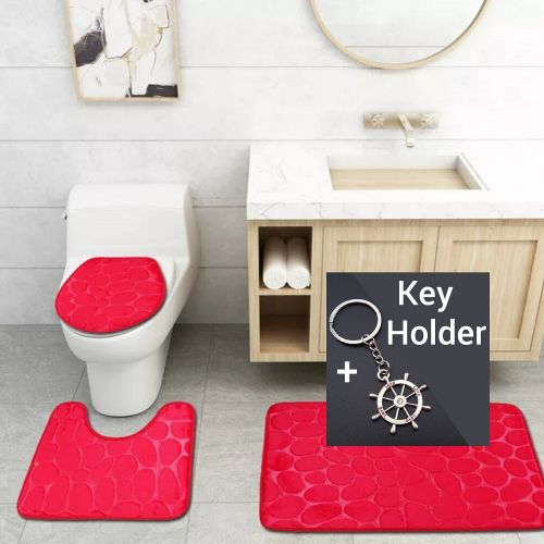 3-in-1 Toilet Cover+ Floor Footmat Floormat
