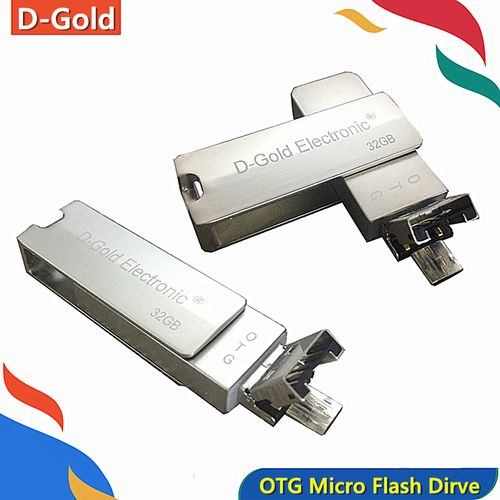 Micro OTG Flash Drive 32GB USB Metal 2 In 1 For Android USB