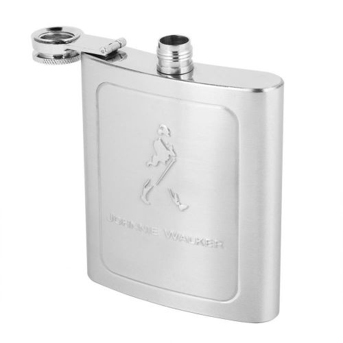 Portable Stainless Steel Square Alcohol Whiskey Jug Wine Flagon Bottle