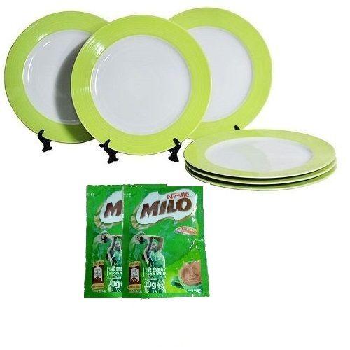 DOGA GREEN 6 PCS DINNER PLATES