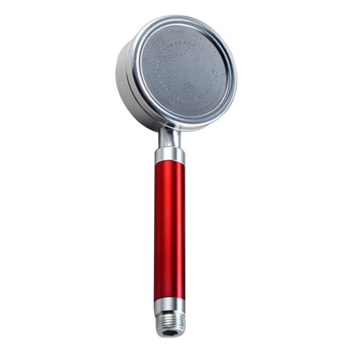 Space Aluminum Hand Shower Bathroom Booster Water Saving Nozzle Hand Held Red