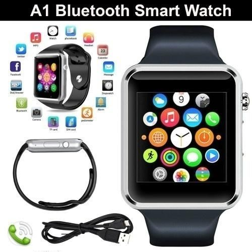 Hot Sell Latest Styles A1 Bluetooth Smart Watch-Silver&Black