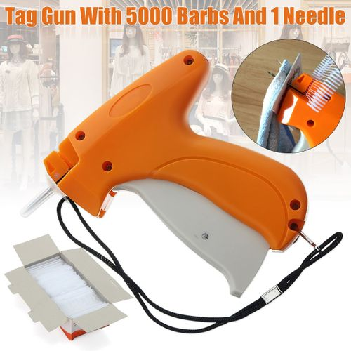 Clothes Garment Price Tag Label Tagging Machine Kit With 5000 Barbs +Neddle