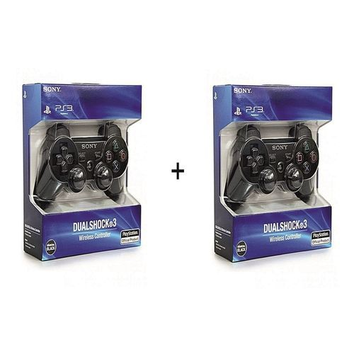 PS3 Dual Shock Wireless Controller Pad - Black(2 Pieces)