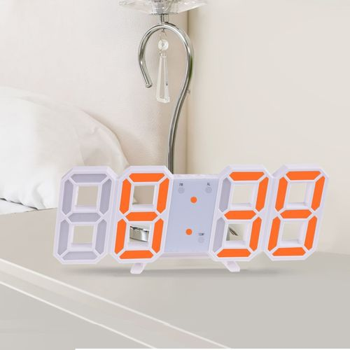 3D Large LED Digital Wall Clock Date Time Celsius Nightlight Display Table Desktop Clocks Alarm Clock From Living Room(As The Picture Shows)