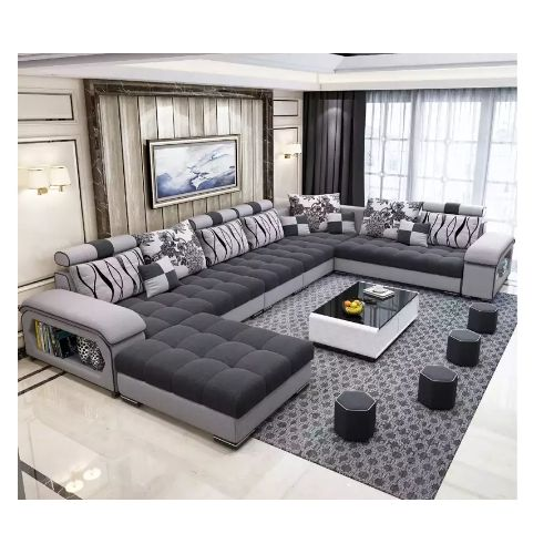 Briskstar Sectional Sofa+Cenre Table+Ottomans-Free Delivery