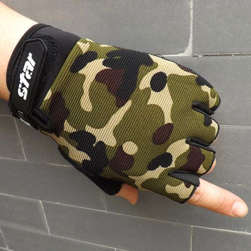 Mewone Men Antiskid Cycling Bike Gym Fitness Sports Half Finger Gloves CE XL