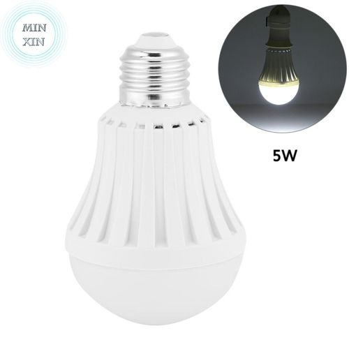 Minxin LED E27 Energy Saving Intelligent Emergency Bulb Light Rechargeable Lamp 5W