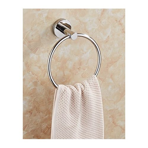 Durable Wall Mounted Towel Ring, Bathroom Silver Stainless Steel Towel Holder Shower Room Rack For Kitchen Washroom And Outdoors