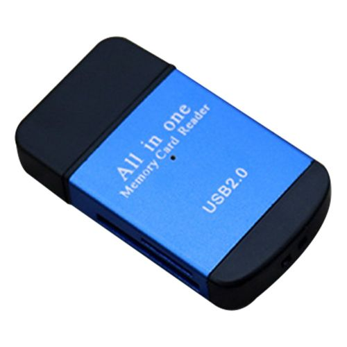 4-In-1 High-Speed Card Reader Tf Micro Mobile Phone Camera Memory Blue
