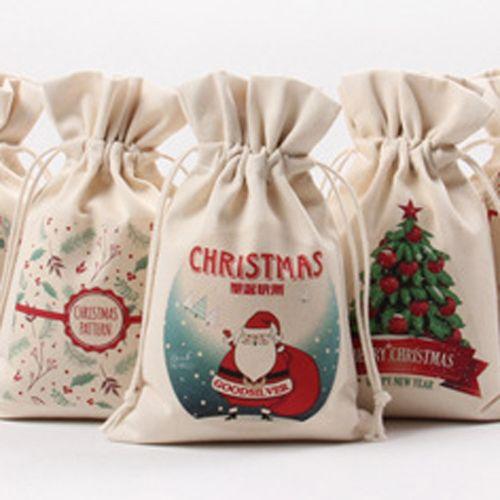 Chrismas Santa Claus Kids Candy Gift Bags Handbag Pouch Wedding Sack Present Bag Christmas Decoration