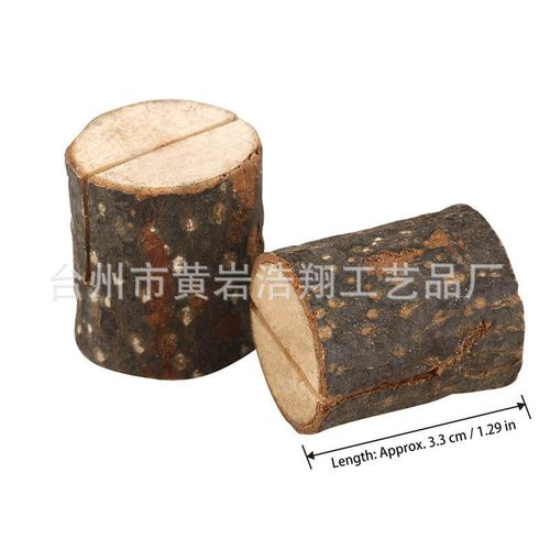10Pcs Stump Shape Wedding Party Place Card Holder Stand Number Table Clip Card Holder