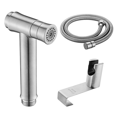 Hand Held Muslim Shattaf Kit Stainless Steel Cloth Diaper Sprayer 2 Spray Mode Bidet Sprayer For Toilet Brushed Nickel, Hand Held Muslim Shattaf Kit Stainless Steel Cloth Diaper Sprayer 2 Spray Mode Bidet Sprayer For Toilet Brushed Nickel, WS024BS