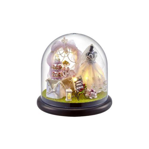 DIY Doll House Rotating Music Box For Kids Child Christmas Birthday Gift UK