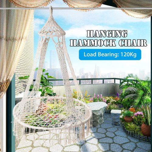Garden Lounge Hanging Chair Hammock Swing Seat Indoor Outdoor Camping Tassel