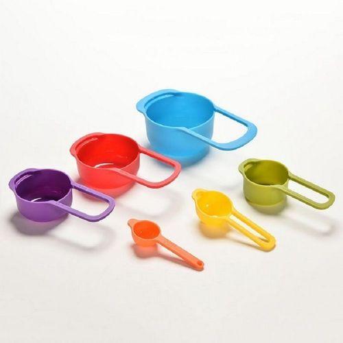 6 Piece Colourful Measuring Spoons Rainbow - Multi