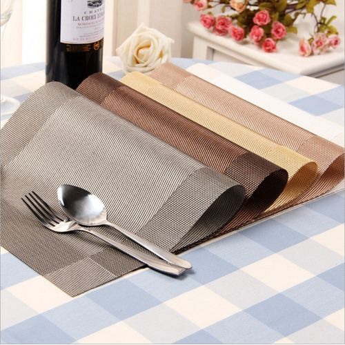 5Pcs/Lot PVC Placemat Bowl Mat Table Mat European Style Western Mat Free Wash Non-slip Mat