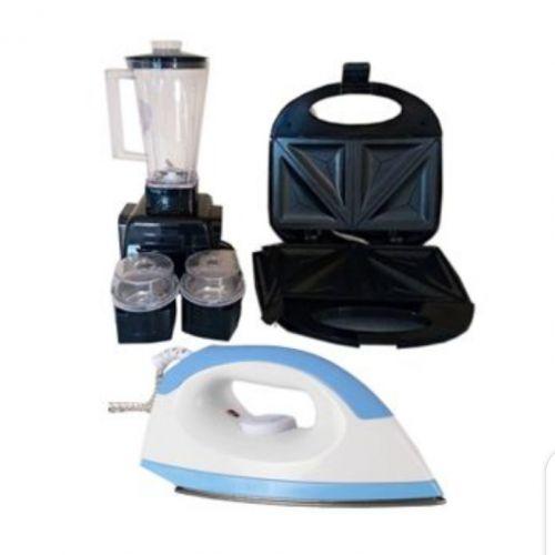 Electric Iron+Shaisho Blender+ Toaster