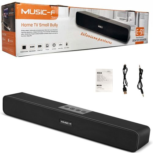 Music-F HiFi 3D Sound Bar With Built-in Mp3/FM Subwoofers