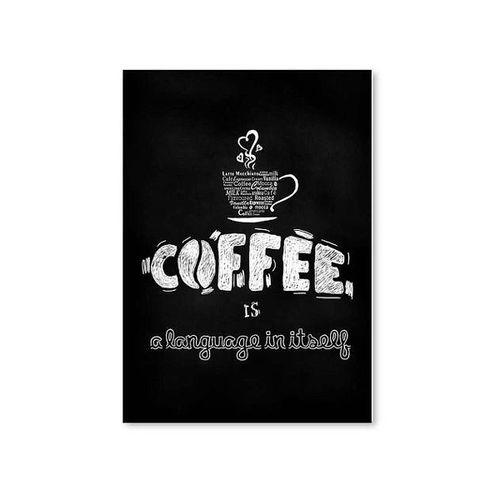 Canvas Wine Coffee Painting Bar Cafe Kitchen Wall Decoration Poster Frameless