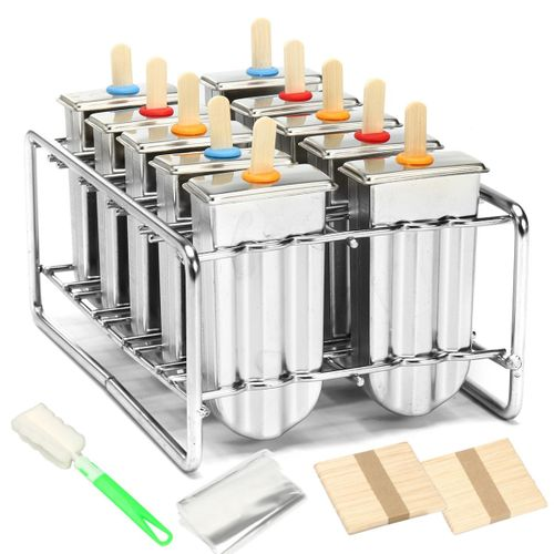 Mould Stainless Steel Mold Ice Pop Lolly Popsicle Ice Cream Holder Commercial