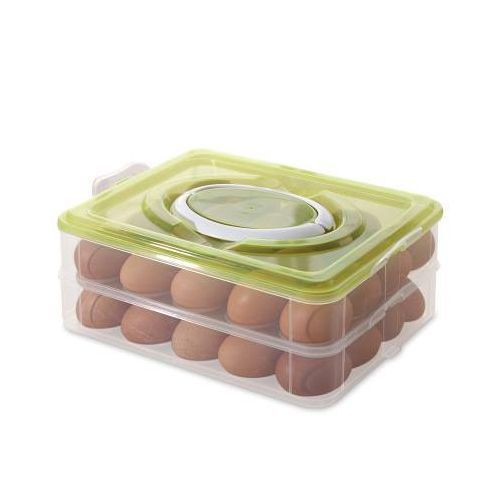 Double Layer Plastic 32 Egg Storage Box With Handle