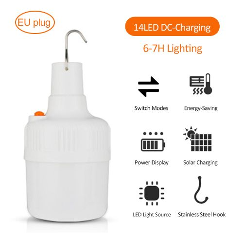 LEDs Solar -Bulb Lamp Rechargeable Ultra Bright 2/5 Modes