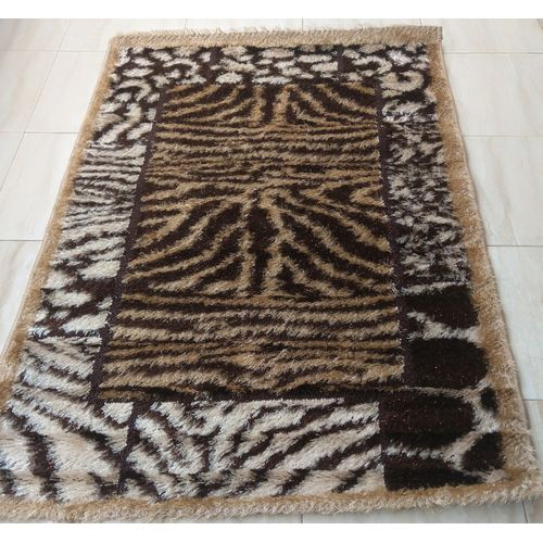 Shaggy Centre Rug-gold And Brown