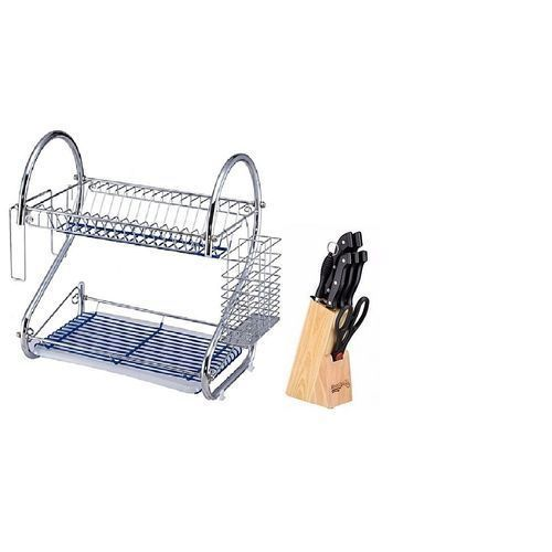 16 Inches Dish Drainer Plus Free Knife Set With Holder