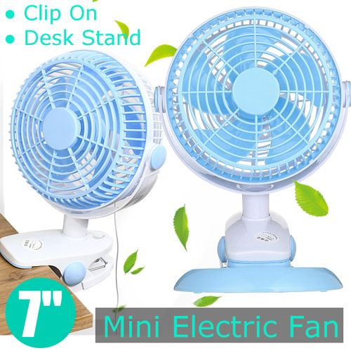 USB Portable Mini Electric Slient Cooling Fan 5V Clip-on Table Desktop 7 Inch